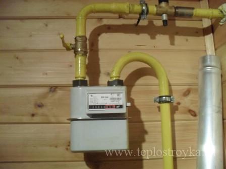 газовый счтчик в частном доме