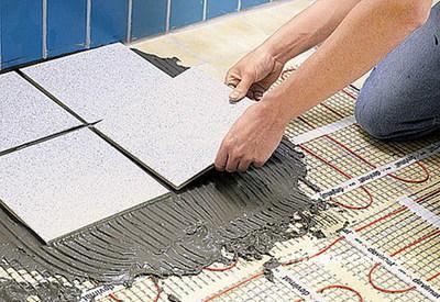 Монтаж теплого пола под плитку и под другое покрытие