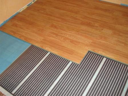 Теплый пол под ламинат — водяной, плёночный, электрический и инфракрасный пол