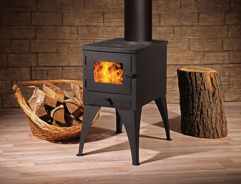 8 недорогих отопительных дровяных печей-каминов для дома